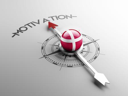 motivator: Denmark High Resolution Motivation Concept
