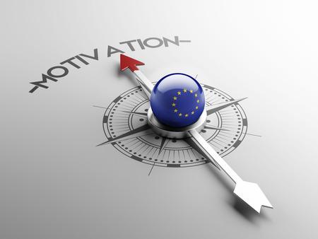 motivator: European Union High Resolution Motivation Concept Stock Photo