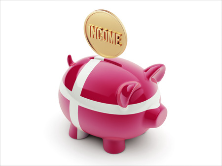 Denmark High Resolution Income Concept High Resolution Piggy Concept photo