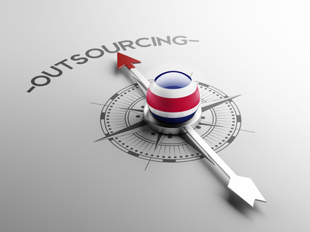 contracting: Costa Rica  High Resolution Outsourcing Concept Stock Photo
