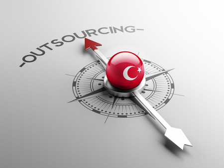 outsourcing: Turkey High Resolution Outsourcing Concept