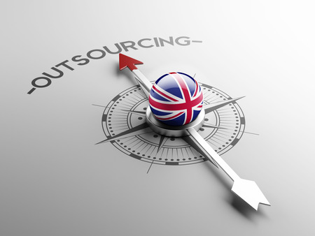 contracting: United Kingdom High Resolution Outsourcing Concept Stock Photo