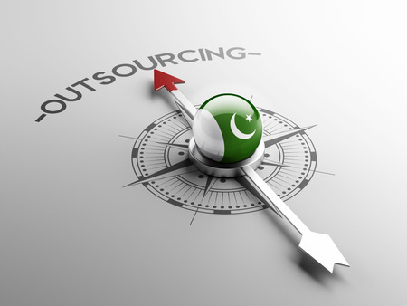 foreign country: Pakistan High Resolution Outsourcing Concept