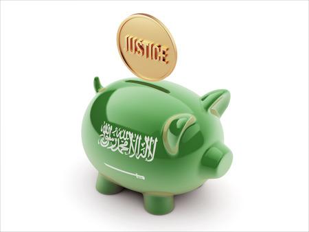 Saudi Arabia High Resolution Justice Concept High Resolution Piggy Concept photo