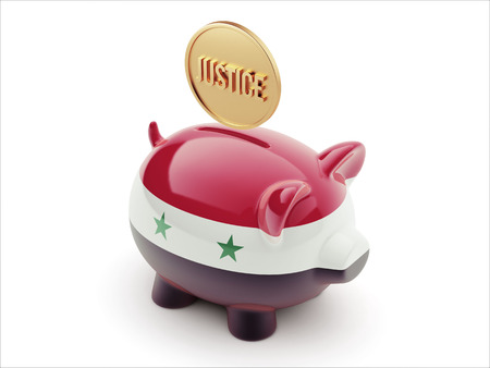 Syria High Resolution Justice Concept High Resolution Piggy Concept photo