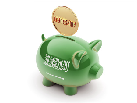 Saudi Arabia High Resolution Leadership Concept High Resolution Piggy Concept photo