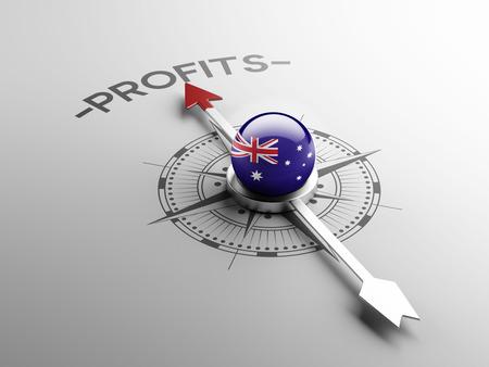 australian money: Australia High Resolution Profit Concept