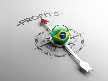Brazil High Resolution Profit Concept