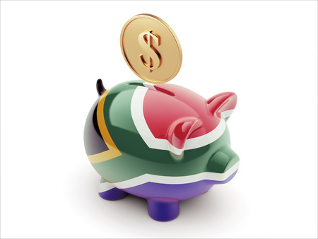 South Africa High Resolution Money Concept High Resolution Piggy Concept photo