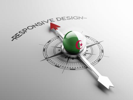 algerian flag: Algeria High Resolution Responsive Design Concept