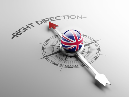United Kingdom High Resolution Right Direction Concept