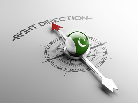 Pakistan High Resolution Right Direction Concept