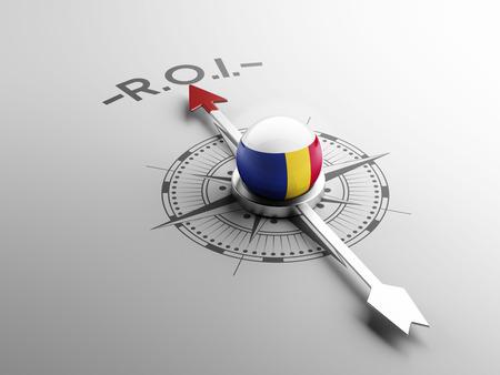 cash flows: Romania High Resolution ROI Concept