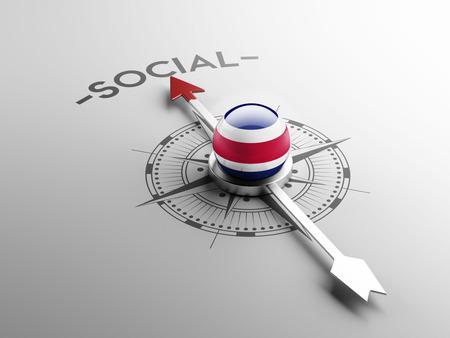 societal: Costa Rica  High Resolution Social Concept