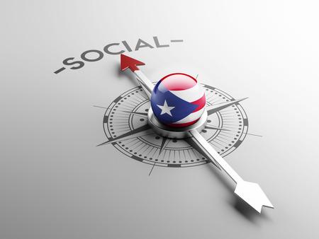 bandera de puerto rico: Puerto Rico de alta resolución Concepto social
