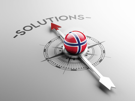 norwegian flag: Norway High Resolution Solution Concept Stock Photo