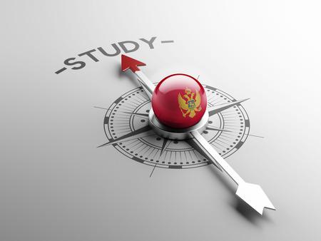 study concept: Montenegro  High Resolution Study Concept Stock Photo