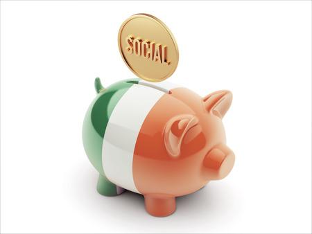 convivial: Ireland High Resolution Social Concept High Resolution Piggy Concept