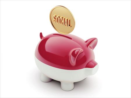 sumatra: Indonesia High Resolution Social Concept High Resolution Piggy Concept Stock Photo