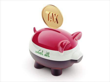 iraq money: Iraq High Resolution Tax Concept High Resolution Piggy Concept Stock Photo