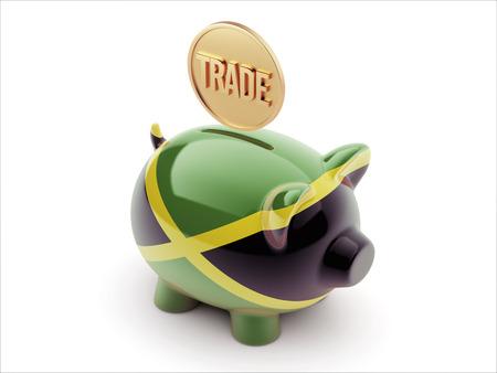 Jamaica High Resolution Trade Concept High Resolution Piggy Concept photo