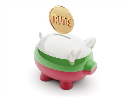 Bulgaria High Resolution Trade Concept High Resolution Piggy Concept photo