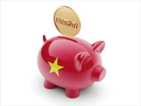 graduate asian: Vietnam High Resolution University Concept High Resolution Piggy Concept Stock Photo