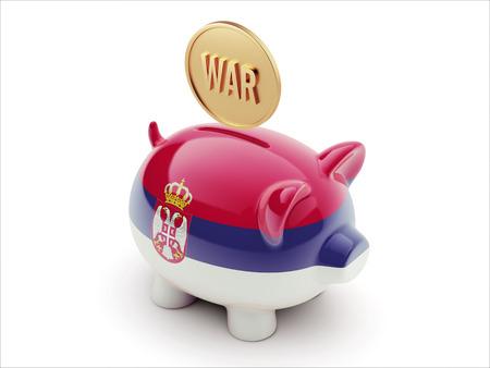 tussle: Serbia High Resolution War Concept High Resolution Piggy Concept Stock Photo