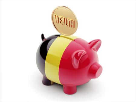 Belgium High Resolution Wealth Concept High Resolution Piggy Concept Stock Photo