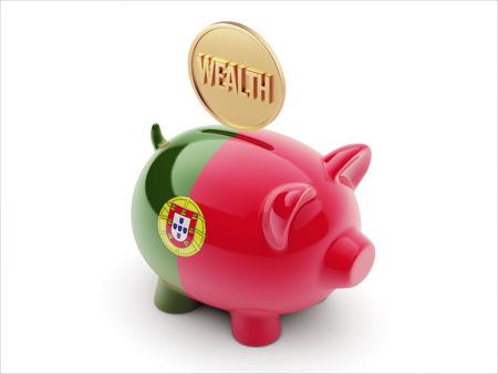 Portugal High Resolution Wealth Concept High Resolution Piggy Concept
