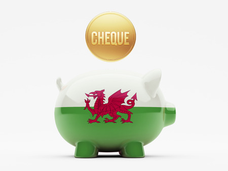 Wales High Resolution Cheque Concept photo