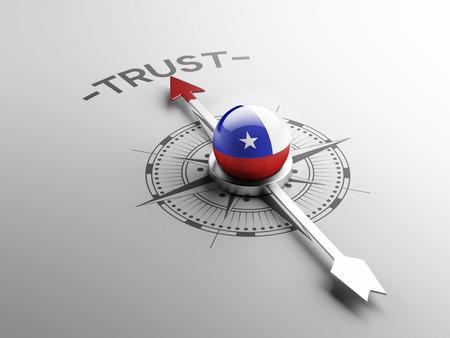 confianza concepto: Chile Alto Resolution Trust Concept