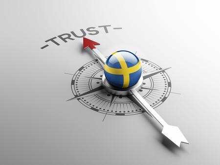 confianza concepto: Suecia Alto Resolution Trust Concept Foto de archivo