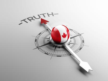 カナダの高解像度の真実の概念 写真素材