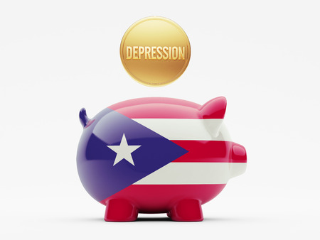 collapsing: Puerto Rico High Resolution Depression Concept Stock Photo