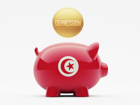 tunisie: Tunisia High Resolution Depression Concept