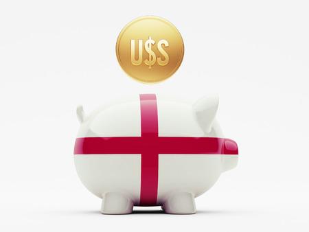 England High Resolution Dollars Concept photo