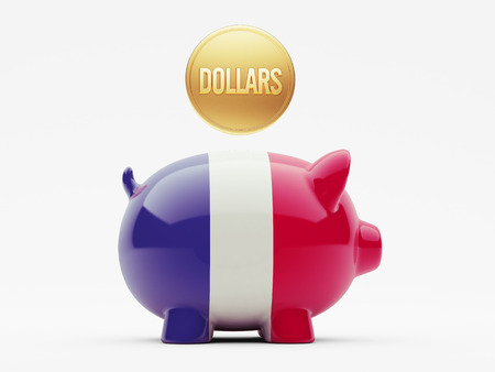 France High Resolution Dollars Concept Stock Photo
