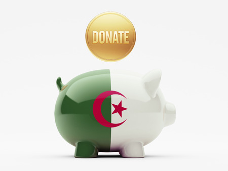 african solidarity: Algeria High Resolution Donate Concept
