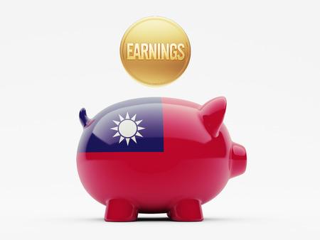 earnings: Taiwan High Resolution Earnings Concept Stock Photo
