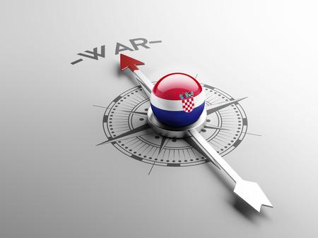 tussle: Croatia  High Resolution War Concept Stock Photo