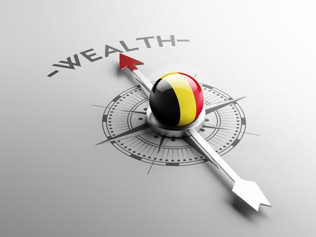 Belgium High Resolution Wealth Concept