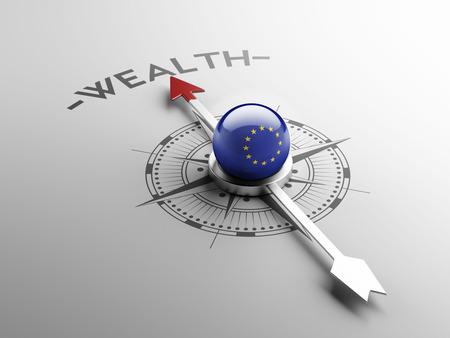 European Union High Resolution Wealth Concept Stock Photo