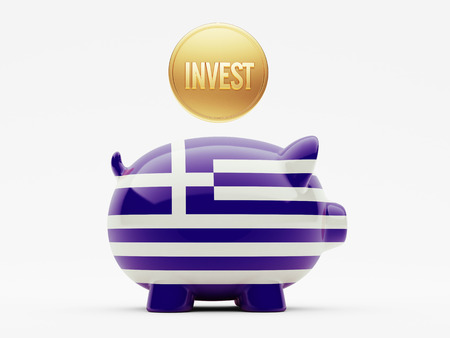 invest: Greece High Resolution Invest Concept Stock Photo