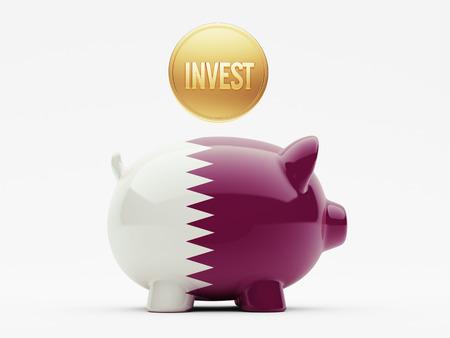 invest: Qatar High Resolution Invest Concept Stock Photo