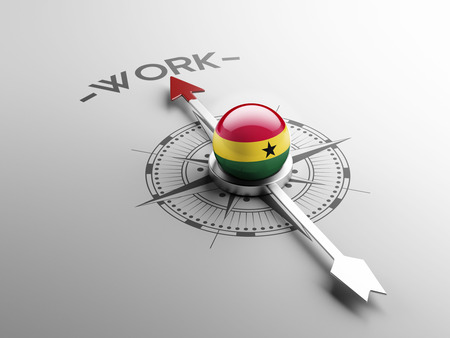 Ghana High Resolution Work Concept photo