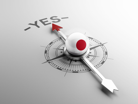 assent: Japan High Resolution Yes Concept Stock Photo