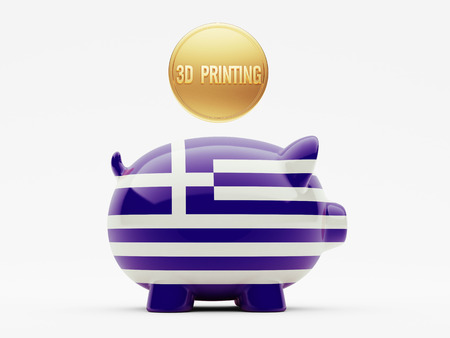 Greece High Resolution 3d Printing Concept photo