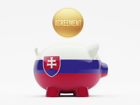 slovakian: Slovakia High Resolution Agreement Concept Stock Photo
