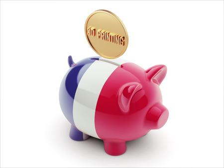 France High Resolution 3d Printing Concept High Resolution Piggy Concept